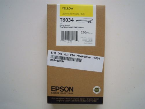EPSON ULTRA CHROME K3 INK CARTRIDGE YELLOW T6034 220ML